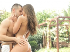 Hottie delights hunk with wet...