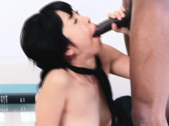 xhamster Teen face blasted by bbc