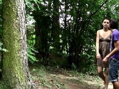 Longhaired hottie loves wild...