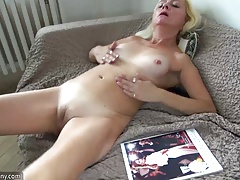 Oldnanny Blonde mature and slave...