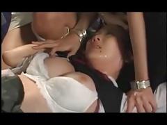 Asian Teen Femdom Lesbian Group...