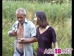 Ugliest oldman fucks Anorexic...