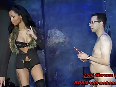 GERMAN BDSM TEEN - Strapon anal...