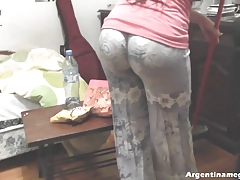 Hot Round Ass Teen Cleaning the...