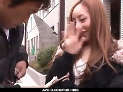 Erena Aihara gets picked up and...