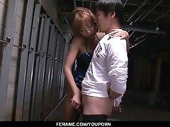 Sumire Matsu On Her Knees...