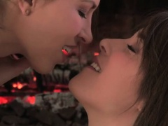 Hot Lesbian Lovers Kiss And...