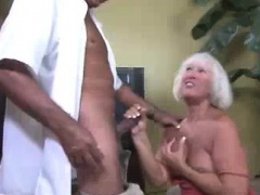 Horny Granny Grabs The Thick Rod...