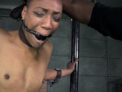 Bound black sub in yoke toyed as...