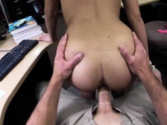 Pretty babe rides monster cock