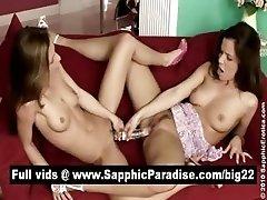 Hot brunette lesbians toying...