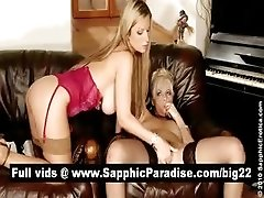 xhamster Cute blonde lesbians licking and...